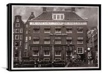 The Grasshopper Hotel -- November in Amsterdam SEP, Canvas Print