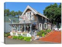 Oak Bluffs Gingerbread Cottages (9), Canvas Print