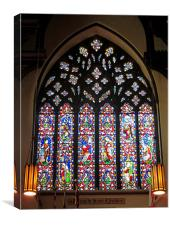 West Stained Glass Window Christ Church Cathedral , Canvas Print