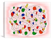 Clown Memory Cells pink, Canvas Print