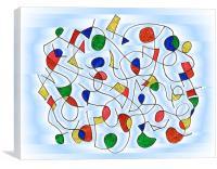 Clown Memory Cells blue, Canvas Print
