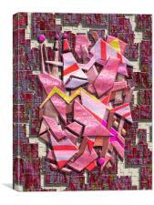 Colorful Scrap Metal, Canvas Print