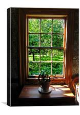 Colonial Cottage Window, Canvas Print