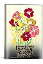 Flower Basket, Canvas Print