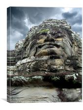 Great Stone Face - Bayon, Canvas Print