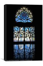 Sheikh Zayed Grand Mosque Foyer Window black, Canvas Print