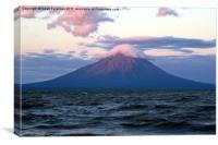 Nicaraguan Volcano at Sunset, Canvas Print