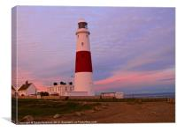 Portland Bill Lighthouse at Sunset, Canvas Print