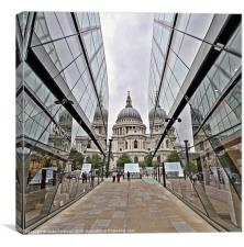 St Pauls from One New Change, Canvas Print