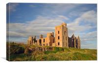 Slains Castle Aberdeenshire, Canvas Print