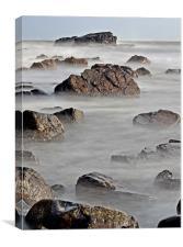 North Sea Rocks, Canvas Print