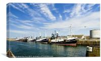 Peterhead Fishing Trawlers, Canvas Print