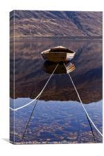 Loch Maree Boat, Canvas Print