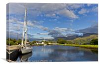 Caledonian Canal Evening, Canvas Print