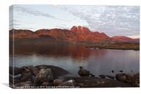 Slioch and Loch Maree, Canvas Print