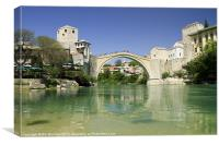 Bridge at Mostar, Canvas Print