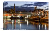 Fraserburgh Harbour Evening Scene Photo, Canvas Print