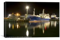 Peterhead Trawler Photo, Canvas Print