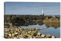 Aberdeen Harbour Head Photo, Canvas Print