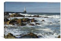 Aberdeen Harbour Light Photo, Canvas Print