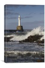 Aberdeen Harbour Head Photo, Canvas Print