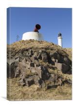 Girdleness Lighthouse And Foghorn Photo, Canvas Print