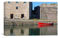 Portsoy Red Boat, Canvas Print