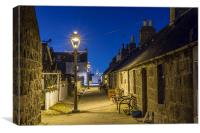 Footdee (Fittie) Aberdeen, Canvas Print