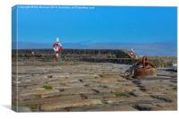 Portsoy Cobles, Rope, Rust and Red, Canvas Print