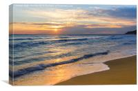 Glyfada Golden Sunset, Canvas Print