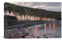 Pennan Cottages, Canvas Print