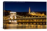 Budapest Chain Bridge and St. Matthias Church, Canvas Print