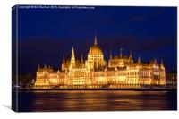 Hungarian Parliament Budapest, Canvas Print