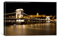 Budapest Chain Bridge and Royal Palace, Canvas Print
