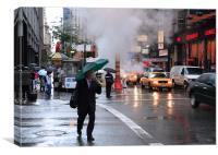 Manhattan rain, Canvas Print