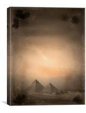 Pyramids, Canvas Print