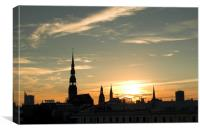 Latvia Riga, Canvas Print