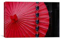 Traditional Japanese Umbrella, Canvas Print