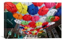 Colourful Umbrellas, Canvas Print