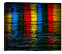 Whitby Crayons, Canvas Print