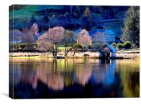The Little Boathouse, Canvas Print