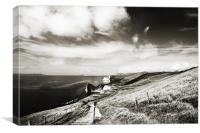 Lulworth Cove Walk, Canvas Print