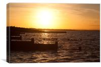 Whitstable Beach Sunset, Canvas Print