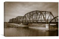 Old Metal Bridge, Canvas Print