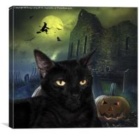 The Witches Cat, Canvas Print