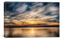 Cloudy Sunset, Canvas Print