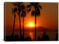 Sunset in Turkey, Canvas Print