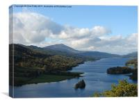Queens View, Scotland, Loch Tummel, Canvas Print