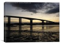 Orwell Bridge, Suffolk , Canvas Print