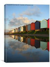 Brightlingsea, Essex, Beach Huts, Canvas Print